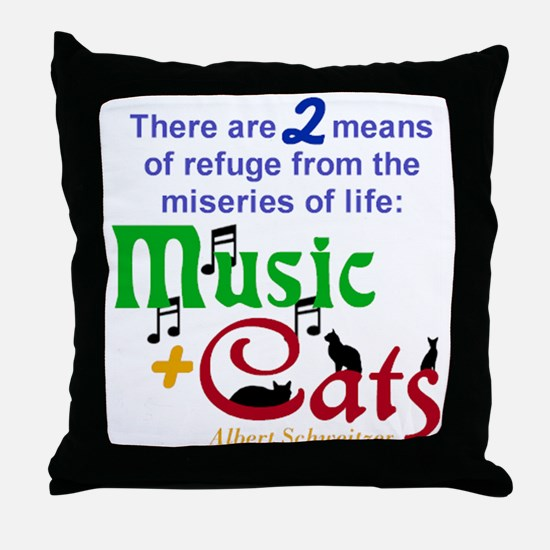 Miseries of Life ... Throw Pillow