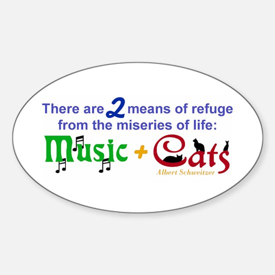 Miseries of Life ... Oval Decal