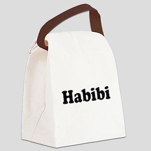 habibi black Canvas Lunch Bag