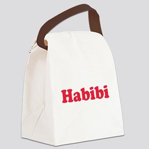 habibi red Canvas Lunch Bag