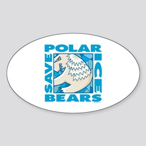 Save Polar Bears Oval Sticker