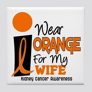 I Wear Orange For My Wife 9 KC Tile Coaster