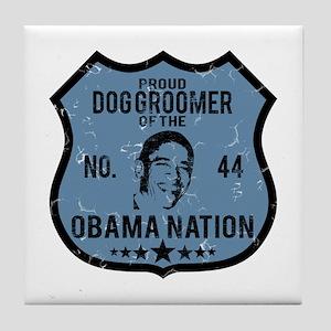 Dog Groomer Obama Nation Tile Coaster