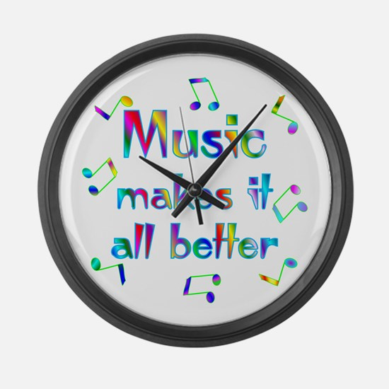 Music Large Wall Clock
