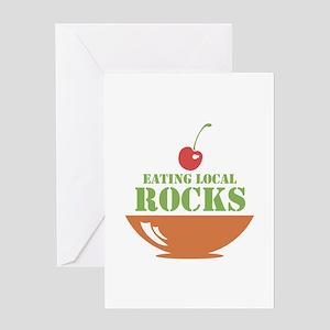 Eating Local Rocks Greeting Card