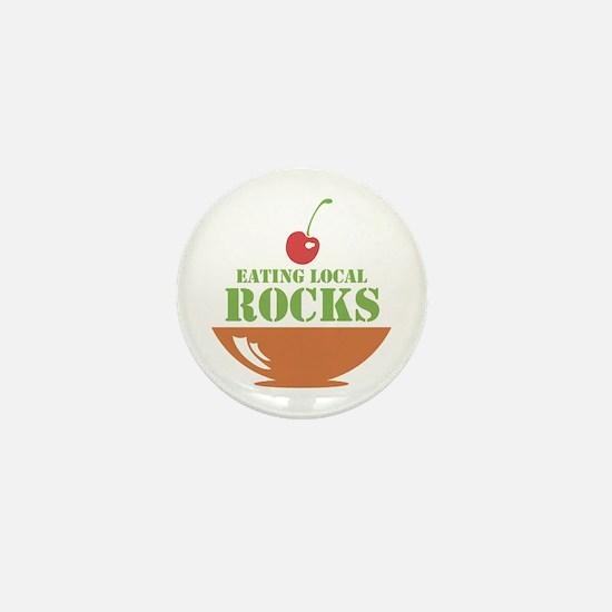 Eating Local Rocks Mini Button