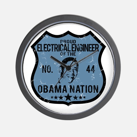 Electrical Engineer Obama Nation Wall Clock