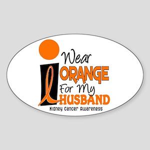 I Wear Orange For My Husband 9 KC Oval Sticker