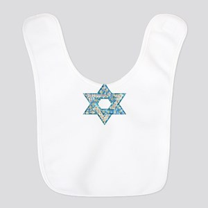Gems and Sparkles Hanukkah Polyester Baby Bib