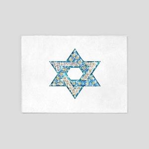 Gems and Sparkles Hanukkah 5'x7'Area Rug
