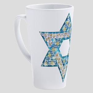 Gems and Sparkles Hanukkah 17 oz Latte Mug