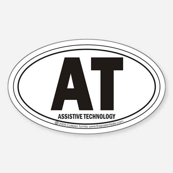 AT Assistive Technology Oval Decal