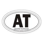 AT Assistive Technology Oval Sticker