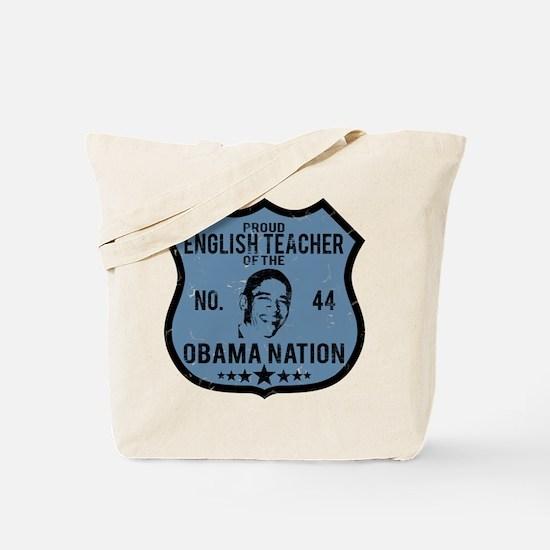 English Teacher Obama Nation Tote Bag