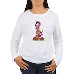 Girly Punk Rock Skull Women's Long Sleeve T-Shirt