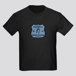 Firefighter Obama Nation Kids Dark T-Shirt