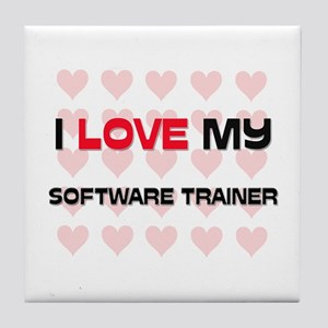 I Love My Software Trainer Tile Coaster