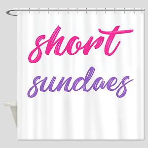 Life is short, eat more sundaes Shower Curtain