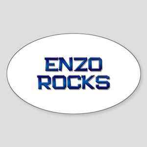 enzo rocks Oval Sticker