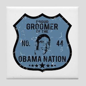Groomer Obama Nation Tile Coaster