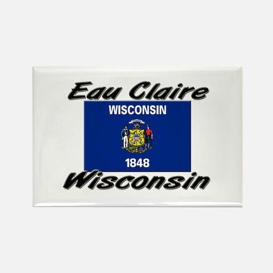 Eau Claire Wisconsin Rectangle Magnet