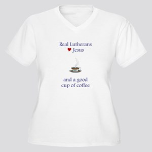 Jesus and Coffee Women's Plus Size V-Neck T-Shirt