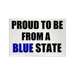 Blue State Rectangle Magnet