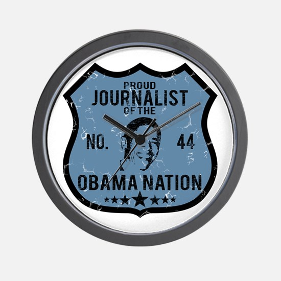 Journalist Obama Nation Wall Clock