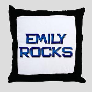 emily rocks Throw Pillow