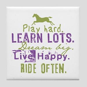 Horse Lover Tile Coaster