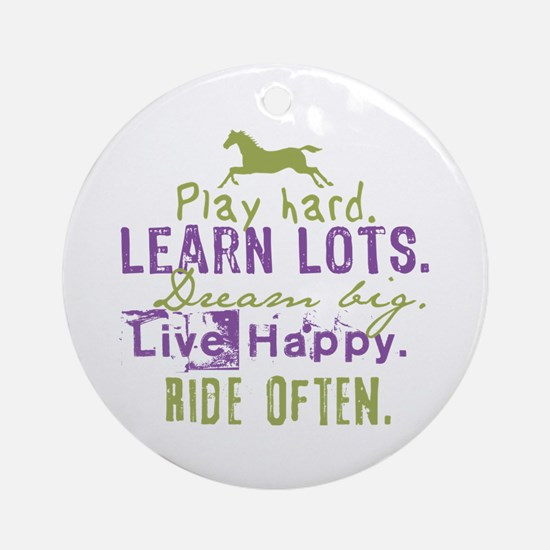 Horse Lover Ornament (Round)