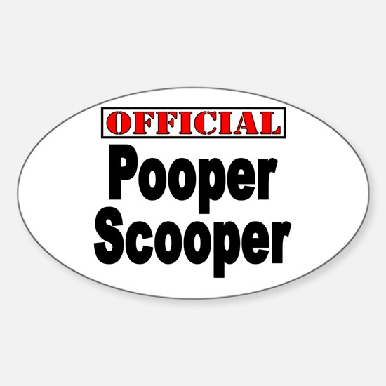 Scooper Oval Decal