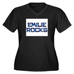 emilie rocks Women's Plus Size V-Neck Dark T-Shirt