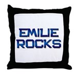 emilie rocks Throw Pillow