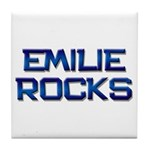 emilie rocks Tile Coaster