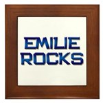 emilie rocks Framed Tile