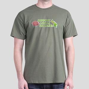 Support Local Farmers Dark T-Shirt