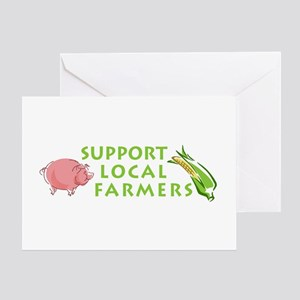 Support Local Farmers Greeting Card