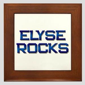 elyse rocks Framed Tile