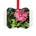 Pink Hibiscus Tropical Flower Ornament