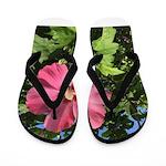 Pink Hibiscus Tropical Flower Flip Flops