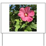 Pink Hibiscus Tropical Flower Yard Sign