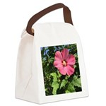Pink Hibiscus Tropical Flower Canvas Lunch Bag