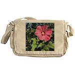 Pink Hibiscus Tropical Flower Messenger Bag