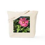 Pink Hibiscus Tropical Flower Tote Bag