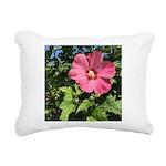 Pink Hibiscus Tropical Flower Rectangular Canvas P