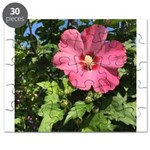 Pink Hibiscus Tropical Flower Puzzle