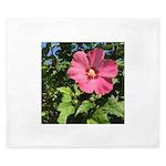 Pink Hibiscus Tropical Flower King Duvet