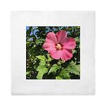 Pink Hibiscus Tropical Flower Queen Duvet