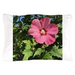 Pink Hibiscus Tropical Flower Pillow Case